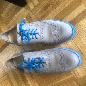 Cole Haan oxford wing tips (blue and tan)